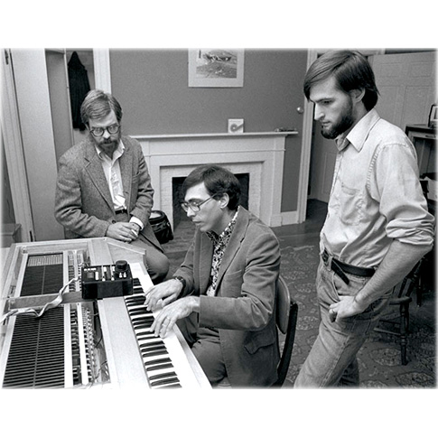 Sydney Alonso, Jon Appleton, Cameron Jones with Synclavier® I Prototype, 1977