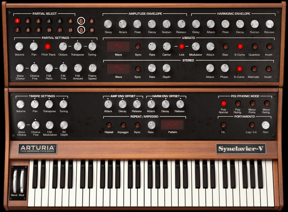 Synclavier V Partial Timbre Controls